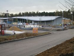 Beaconsfield services under construction.